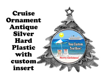 Cruise ornament.  Commemorate your cruise with this custom ornament.  Tree.  Design 003