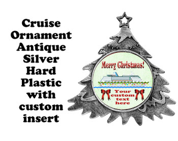 Cruise ornament.  Commemorate your cruise with this custom ornament.  Tree.  Design 004