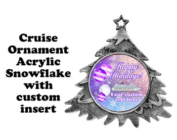 Cruise ornament.  Commemorate your cruise with this custom ornament.  Tree.  Design 005