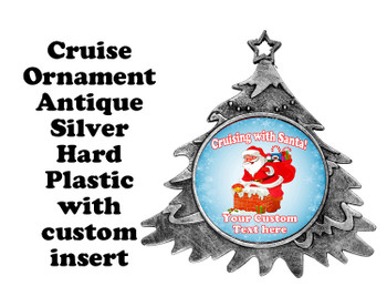 Cruise ornament.  Commemorate your cruise with this custom ornament.  Tree.  Design 006