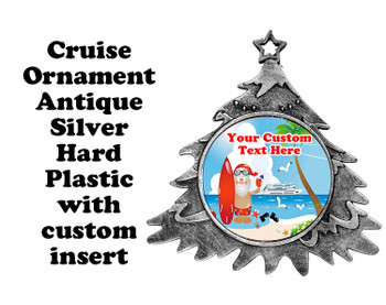 Cruise ornament.  Commemorate your cruise with this custom ornament.  Tree.  Design 007