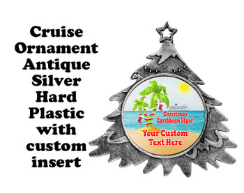 Cruise ornament.  Commemorate your cruise with this custom ornament.  Tree.  Design 008