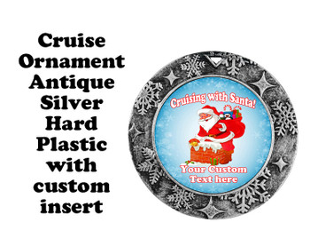 Cruise ornament.  Commemorate your cruise with this custom ornament.  Round.  Design 006