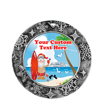Cruise ornament.  Commemorate your cruise with this custom ornament.  Round.  Design 007