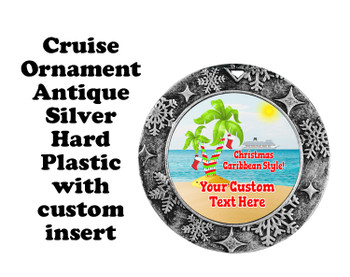 Cruise ornament.  Commemorate your cruise with this custom ornament.  Round.  Design 008