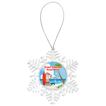 Cruise ornament.  Commemorate your cruise with this custom ornament.  Snowflake.  Design 007
