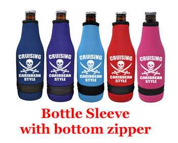 Cruise themed bottle sleeve.  Choice of color and custom option available.  Design 002