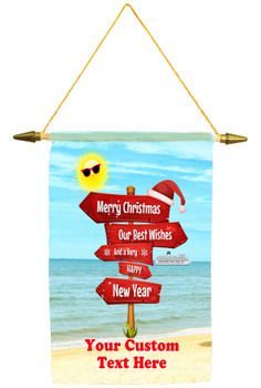 Cruise Ship Door Banner -  available in 3 sizes.     Holiday Sign Post