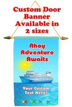 Cruise Ship Door Banner - Ahoy, adventure
