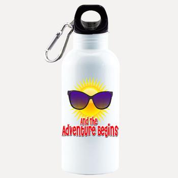 Cruise themed Water - Beverage Bottle.  20 Oz Aluminum Bottle with optional back design.  Design 001