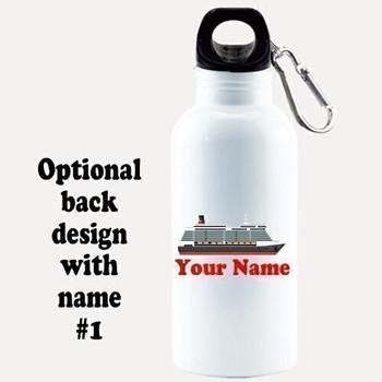 Cruise themed Water - Beverage Bottle.  20 Oz Aluminum Bottle with optional back design.  Design 0015