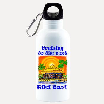 Cruise themed Water - Beverage Bottle.  20 Oz Aluminum Bottle with optional back design.  Design 0017