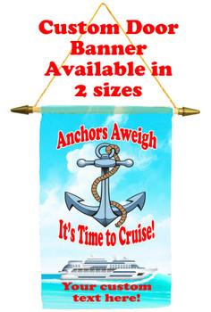 Cruise Ship Door Banner - Anchors Aweigh 1