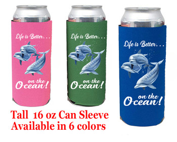 Cruise themed Tall Can sleeve.  Choice of color and custom option available.  Design 46
