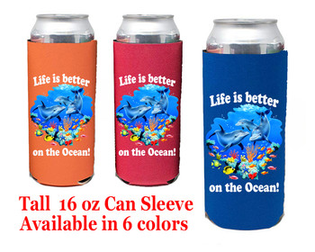 Cruise themed Tall Can sleeve.  Choice of color and custom option available.  Design 47