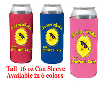 Cruise themed Tall Can sleeve.  Choice of color and custom option available.  Design 49