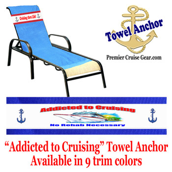 "Towel Anchor - ""Addicted to Cruising"""