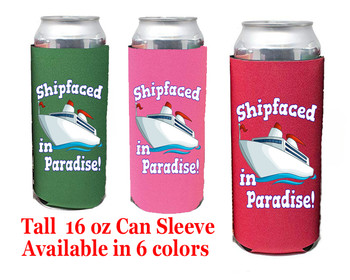Cruise themed Tall Can sleeve.  Choice of color and custom option available.  Design 51