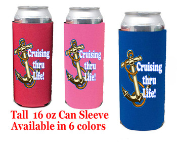 Cruise themed Tall Can sleeve.  Choice of color and custom option available.  Design 53
