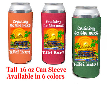 Cruise themed Tall Can sleeve.  Choice of color and custom option available.  Design 54