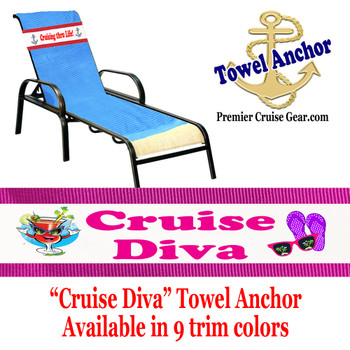 "Towel Anchor - ""Cruise Diva"""