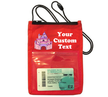 Cruise Card Holder - Custom with your text and colorful art work.  Choice of color.   Design  31