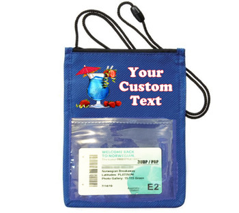 Cruise Card Holder - Custom with your text and colorful art work.  Choice of color.   Design  32