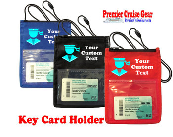 Cruise Card Holder - Custom with your text and colorful art work.  Choice of color.   Design  33