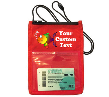 Cruise Card Holder - Custom with your text and colorful art work.  Choice of color.   Design  34