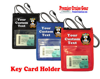 Cruise Card Holder - Custom with your text and colorful art work.  Choice of color.   Design  35