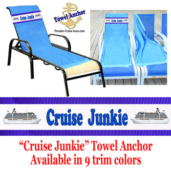 "Towel Anchor - ""Cruise Junkie"""