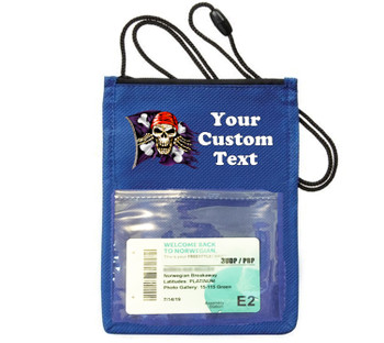 Cruise Card Holder - Custom with your text and colorful art work.  Choice of color.   Design  38