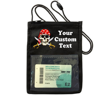 Cruise Card Holder - Custom with your text and colorful art work.  Choice of color.   Design  39