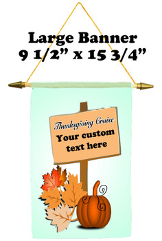 Cruise Ship Door Banner -  available in 3 sizes.      Thanksgiving 4