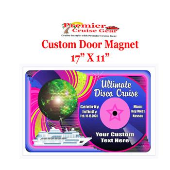 "Cruise Ship Door Magnet - Extra large 17"" x 11"""" - Disco 3"