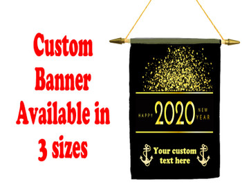 Cruise Ship Door Banner -  available in 3 sizes.      New Year 001
