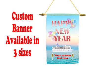 Cruise Ship Door Banner -  available in 3 sizes.      New Year 004