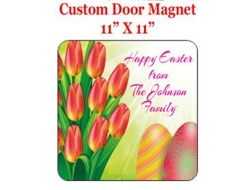 "Cruise Ship Door Magnet - 11"" x 11"" - Easter 001"