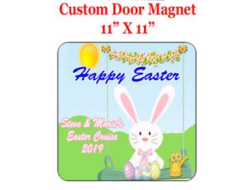 "Cruise Ship Door Magnet - 11"" x 11"" - Easter 002"