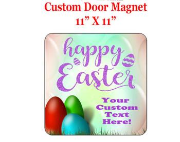 "Cruise Ship Door Magnet - 11"" x 11"" - Easter 003"