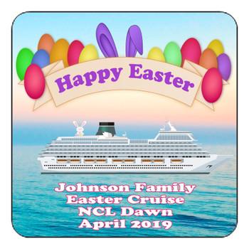 "Cruise Ship Door Magnet - 11"" x 11"" - Easter 004"