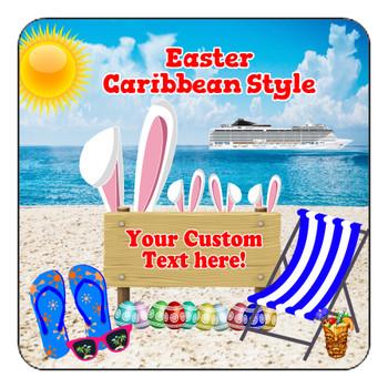 "Cruise Ship Door Magnet - 11"" x 11"" - Easter 005"