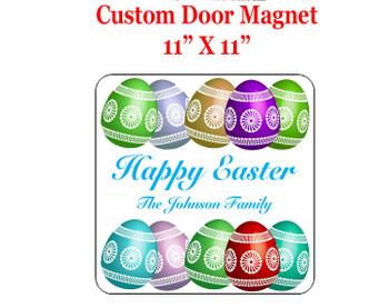 "Cruise Ship Door Magnet - 11"" x 11"" - Easter 006"