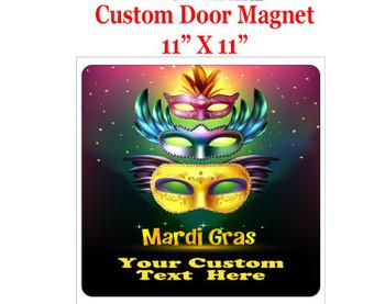"Cruise Ship Door Magnet - 11"" x 11"" - Mardi Gras 007"