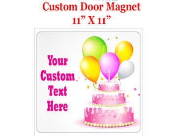 "Cruise Ship Door Magnet - 11"" x 11"" - Birthday 004"