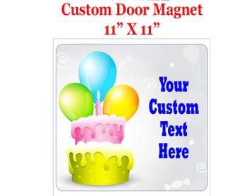 "Cruise Ship Door Magnet - 11"" x 11"" - Birthday 005"