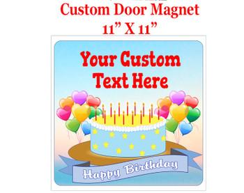 "Cruise Ship Door Magnet - 11"" x 11"" - Birthday 007"