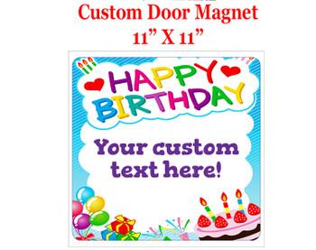 "Cruise Ship Door Magnet - 11"" x 11"" - Birthday 008"