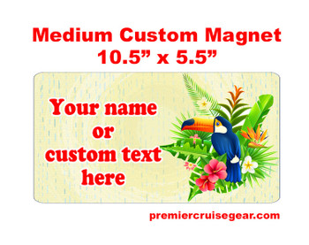 "Cruise Ship Door Magnet - Medium magnet 10 1/2"" x 5 1/2"".  Customizable!  Design 002"