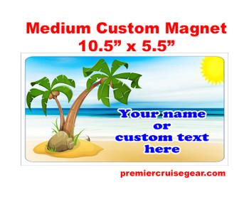 "Cruise Ship Door Magnet - Medium magnet 10 1/2"" x 5 1/2"".  Customizable!  Design 003"